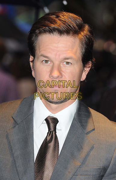 MARK WAHLBERG .UK Film Premiere of 'The Other Guys' at Vue West End cinema, Leicester Square, London, England, UK,.September 14th 2010..portrait headshot grey gray suit brown tie white shirt.CAP/WIZ.© Wizard/Capital Pictures.