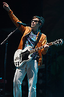 FORT LAUDERDALE BEACH, FL - DECEMBER 02: Rivers Cuomo of Weezer performs during The Riptide Music Festival on December 2, 2017 in Fort Lauderdale Beach Florida. Credit: mpi04/MediaPunch