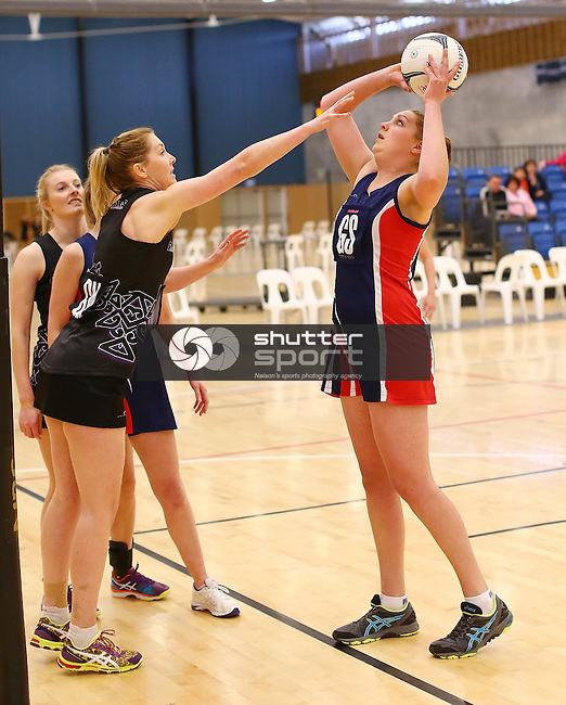 NELSON, NEW ZEALAND - September 5: Netball Semi-Final Stoke v Prices on September 5th  2015 at Saxton Stadium in Nelson, New Zealand. (Photo by: Evan Barnes Shuttersport Limited)