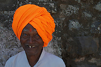 Indian Sikh at Daulatabad Fort Aurangabad