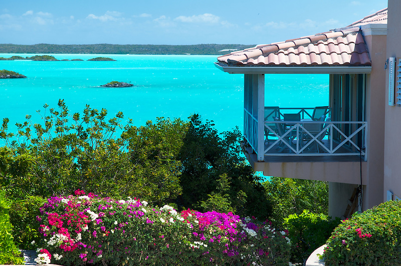 House on chalk sound. Providenciales. Turks and Caicos