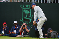 Rory McIlroy (NIR) chips on to 3 during round 4 of the 2019 US Open, Pebble Beach Golf Links, Monterrey, California, USA. 6/16/2019.<br /> Picture: Golffile | Ken Murray<br /> <br /> All photo usage must carry mandatory copyright credit (© Golffile | Ken Murray)