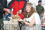 CROWNING GLORY: Caoimhe OSullivan (Queen of Puck) crowns the King in Killorglin on Friday..