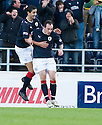 30/10/2010   Copyright  Pic : James Stewart.sct_jsp014_falkirk_v_dundee  .:: MARK STEWART CELEBRATES AFTER HE  HEADS HOME FALKIRK'S SECOND :: .James Stewart Photography 19 Carronlea Drive, Falkirk. FK2 8DN      Vat Reg No. 607 6932 25.Telephone      : +44 (0)1324 570291 .Mobile              : +44 (0)7721 416997.E-mail  :  jim@jspa.co.uk.If you require further information then contact Jim Stewart on any of the numbers above.........