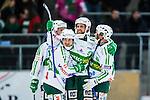 V&auml;ster&aring;s 2014-03-08 Bandy SM-semifinal 4 V&auml;ster&aring;s SK - Hammarby IF :  <br /> V&auml;ster&aring;s Jonas Nilsson har kvitterat till 1-1 och gratuleras av lagkamrater V&auml;ster&aring;s Pekka Rintala och V&auml;ster&aring;s Johan Esplund <br /> (Foto: Kenta J&ouml;nsson) Nyckelord:  VSK Bajen HIF jubel gl&auml;dje lycka glad happy
