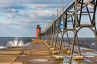 64795-02601 South Haven Lighthouse early morning South Haven,  MI