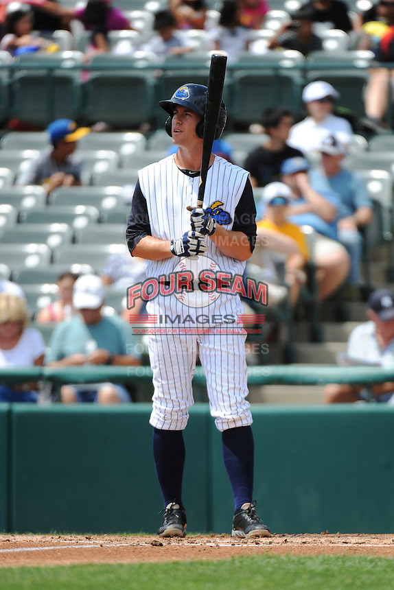 Trenton Thunder infielder Casey Stevenson (31) during game against the Harrisburg Senators at ARM & HAMMER Park on July 31, 2013 in Trenton, NJ.  Harrisburg defeated Trenton 5-3.  (Tomasso DeRosa/Four Seam Images)