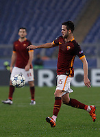 Calcio, Champions League: Gruppo E - Roma vs Bate Borisov. Roma, stadio Olimpico, 9 dicembre 2015.<br /> Roma's Miralem Pjanic in action during the Champions League Group E football match between Roma and Bate Borisov at Rome's Olympic stadium, 9 December 2015.<br /> UPDATE IMAGES PRESS/Isabella Bonotto