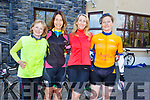 Bernice Fitzgibbon (Tralee), Jackie Ruttledge, Francis Clifford and Norma O'Connor (RNLI Crew) supporting the RNLI Cycling fundraiser at O'Donnells in Mounthawk on Saturday morning.