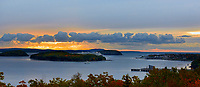 Bar Harbor, Maine at sunrise