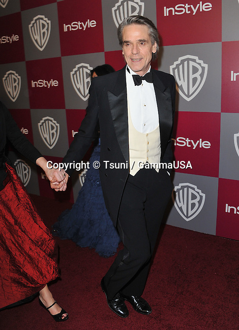Jeremy Iron - Warner Bros & In Style Party after the Golden Globes at the Beverly Hilton Hotel in Los Angeles.
