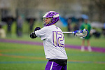 The University of Washington men's lacrosse team plays the University of Oregon on April 14, 2018. (Photography by Scott Eklund/Red Box Pictures)