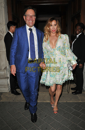 Richard Desmond and Joy Canfield at the Syco summer party, Victoria and Albert Museum, Cromwell Road, London, England, UK, on Thursday 04th July 2019.<br /> CAP/CAN<br /> ©CAN/Capital Pictures