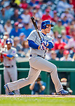 29 June 2017: Chicago Cubs first baseman Anthony Rizzo in action against the Washington Nationals at Nationals Park in Washington, DC. The Cubs rallied to defeat the Nationals 5-4 and split their 4-game series. Mandatory Credit: Ed Wolfstein Photo *** RAW (NEF) Image File Available ***