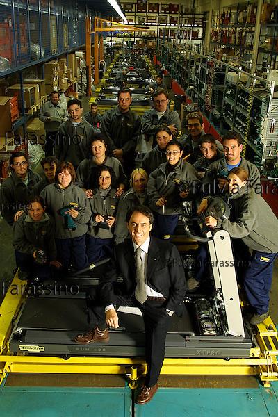 Gambettola, 19/11/2001.Nerio Alessandri, Presidente Technogym
