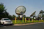 Satellites outside of The Weather Channel in Atlanta, Georgia May 16, 2013.