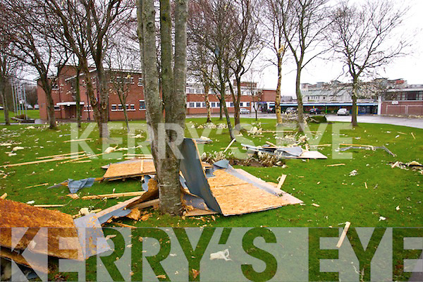 Storm damage at the CBS Primary school in Tralee.