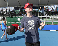 DELRAY BEACH, FL - NOVEMBER 05: David Cook participates in the 28th Annual Chris Evert/Raymond James Pro-Celebrity Tennis Classic at Delray Beach Tennis Center on November 5, 2017 in Delray Beach, Florida<br /> CAP/MPI/HOO<br /> &copy;HOO/MPI/Capital Pictures