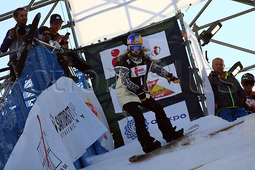 11th November 2017, Milan, Italy; Big Air FIS Freestyle Snowboard World Cup; Anna Gasser
