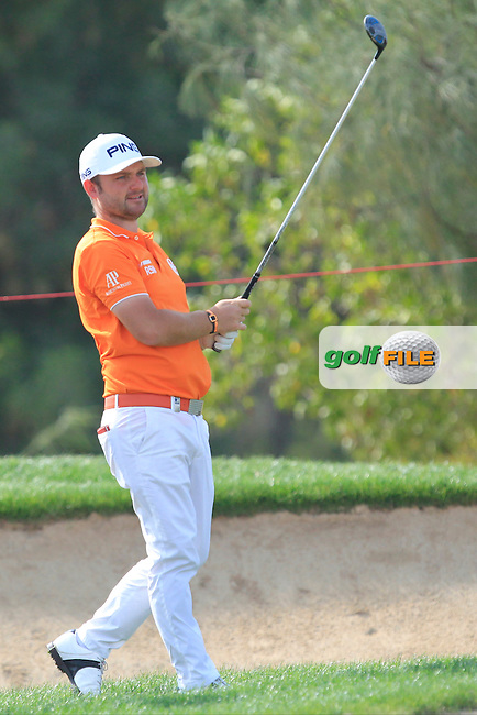 Andy Sullivan (ENG) on the 18th fairway during Round 3 of the Abu Dhabi HSBC Championship on Saturday 21st January 2017.<br /> Picture:  Thos Caffrey / Golffile<br /> <br /> All photo usage must carry mandatory copyright credit    ( &copy; Golffile | Thos Caffrey)