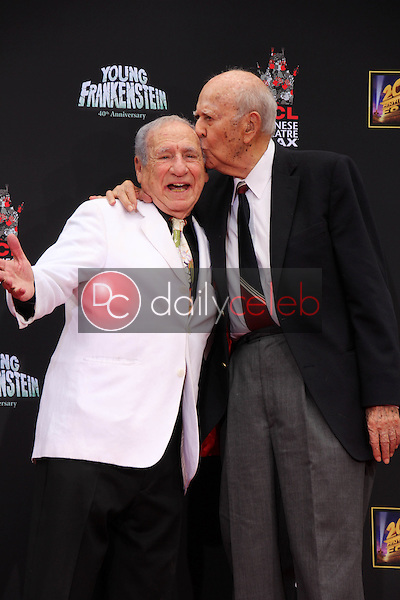 Mel Brooks, Carl Reiner<br /> Mel Brooks Hand and Footprint Ceremony, TCL Chinese Theater, Hollywood, CA 09-08-14<br /> David Edwards/DailyCeleb.com 818-249-4998