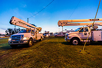 FPL processing Mutual Assistance Crews at the Lake City Processing Site in Lake City, Fla. on September 8, 2017.