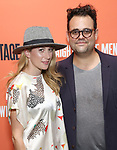 Caissie Levy and Greg Hildreth attends the Opening Night Performance of 'Straight White Men' at the Hayes Theatre on July 23, 2018 in New York City.