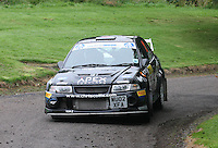Chris Collie / Lisa Watson near Junction 10 on the Gleaner Oil & Gas Cooper Park Special Stage 1 of the Gleaner Oil & Gas Speyside Stages Rally 2012, Round 6 of the RAC MSA Scotish Rally Championship which was organised by The 63 Car Club (Elgin) Ltd and based in Elgin on 4.8.12.........