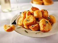 Roast potatoes stock photos