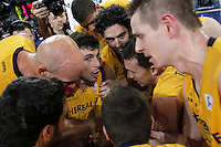 Herbalife Gran Canaria's players celebrate the victory after Spanish Basketball King's Cup match.February 07,2013. (ALTERPHOTOS/Acero) /NortePhoto