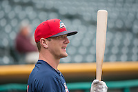 Drew Gagnon (24) of the Colorado Springs Sky Sox before the game against the Salt Lake Bees in Pacific Coast League action at Smith's Ballpark on May 22, 2015 in Salt Lake City, Utah.  (Stephen Smith/Four Seam Images)