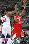 06.09.2014. Barcelona, Spain. 2014 FIBA Basketball World Cup, round of 16. Picture show J. Gutierrez and A. Davis   in action during game between  Mexico v Usa  at Palau St. Jordi