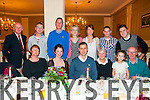 Engagement Party : Olivia Dineen, Causway & Patrick Healy, Tarbert celebrating their engagement with family at the Listowel Arms Hotel on Saturday night last. Front : Anne Dineen, Olivia Dineen, Partick Healy, Ann Healy, Ava Guerin & Tom Healy. Back :Roy Dineen, Cyril Dineen, Shane Healy, Elizabeth Healy, Sinead Healy, Tony Guerin & John Healy.