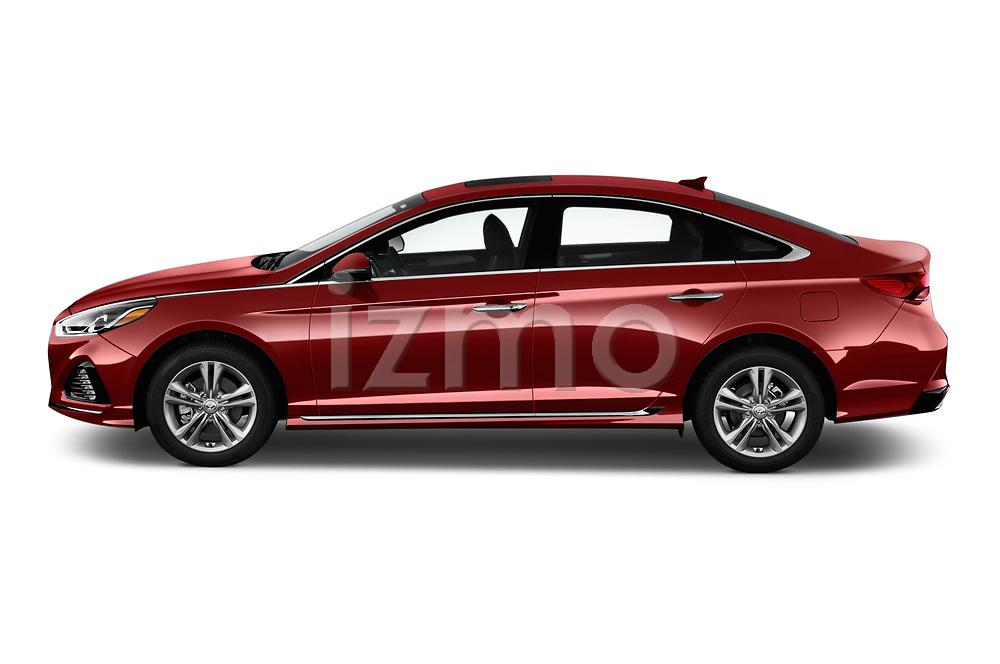 Car driver side profile view of a 2019 Hyundai Sonata Sport 4 Door Sedan