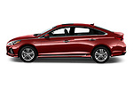 Car driver side profile view of a 2019 Hyundai Sonata Sport 4 Door Sedan