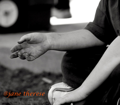 Drew's Hands. photo by jane therese