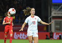 20181005 - LEUVEN , BELGIUM : Switzerland's Lia Walti  pictured during the female soccer game between the Belgian Red Flames and Switzerland , the first leg in the semi finals play offs for qualification for the World Championship in France 2019, Friday 5 th october 2018 at OHL Stadion Den Dreef in Leuven , Belgium. PHOTO SPORTPIX.BE | DIRK VUYLSTEKE