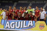 BARRANQUILLA  -COLOMBIA, 2-FEBRERO-2015.  Jugadores de Uniautonoma  posan para una foto previo al encuentro con Alianza Petrolera por la fecha 1 de la Liga çguila I 2015 jugado en el estadio Metropolitano de  la ciudad de Barranquilla ./ Players of  Uniautonoma  pose to a photo prior the match against Alianza Petrolera  for the first date of the Aguila League I 2015 played at Metropolitano de  stadium in Barranquilla  city<br /> . Photo / VizzorImage / Alfonso Cervantes / Stringer