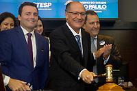 SÃO PAULO, SP - 25.04.2017: ALCKMIN-SP - O governador de São Paulo Geraldo Alckmin durante anúncio da proposta vencedora da licitação do Lote Rodovias dos Calçados, na B3 antiga BM&FBovespa nesta terça-feira, 25 (Foto: Danilo Fernandes/Brazil Photo Press)