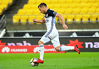 Victory's Kosta Barbarouses in action during the A-League football match between Wellington Phoenix and Melbourne Victory at Westpac Stadium in Wellington, New Zealand on Friday, 10 January 2018. Photo: Dave Lintott / lintottphoto.co.nz