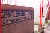 23/06/2000 Blackpool FC Bloomfield Road Ground..toilet sign behind the west stand/paddock.....© Phill Heywood.