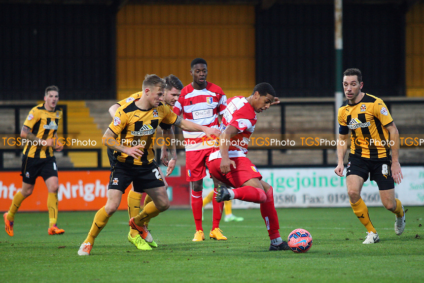 Vadaine Oliver of Mansfield Town in possession  - Cambridge United vs Mansfield Town -FA Challenge Cup 2nd Round Football at the Abbey Stadium, Cambridge - 06/12/14 - MANDATORY CREDIT: Mick Kearns/TGSPHOTO - Self billing applies where appropriate - contact@tgsphoto.co.uk - NO UNPAID USE