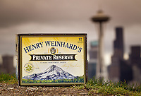 Henry Weinhard's Beer at Kerry Park in Seattle, Washington.