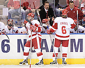 Jack Skille, Adam Burish, Mark Osiecki, Tom Gilbert, Josh Engel, Andy Hrodey - The University of Wisconsin Badgers defeated the University of Maine Black Bears 5-2 in their 2006 Frozen Four Semi-Final meeting on Thursday, April 6, 2006, at the Bradley Center in Milwaukee, Wisconsin.  Wisconsin would go on to win the Title on April 8, 2006.