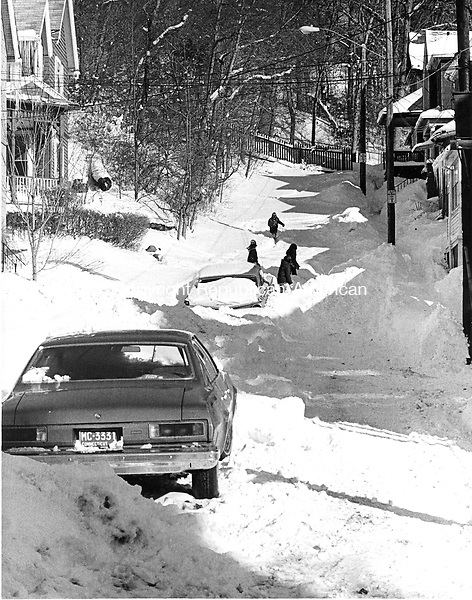 February 6, 1978: BLIZZARD OF '78-  The scene on Willow Court in Waterbury during the Blizzard of '78.  Tom Kabelka Photo