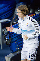 Modric exit the changing rooms