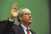 Independent Council Kenneth Starr is sworn-in to testify before the United States House Judiciary Committee during a hearing on pending Articles of Impeachment against U.S. President Bill Clinton on Capitol Hill in Washington, D.C. on November 19, 1998..Credit: Robert Trippett / Pool via CNP