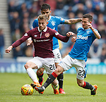 22.04.2018 Rangers v Hearts: Marcus Godinho and Jason Holt