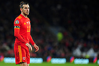 Gareth Bale of Wales during the UEFA Euro 2020 Group E Qualifier match between Wales and Hungary at the Cardiff City Stadium in Cardiff, Wales, UK. Tuesday 19th November 2019