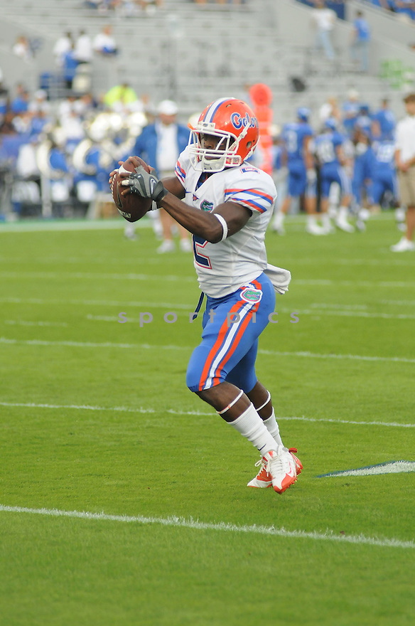 JEFF DEMPS, of the Florida Gators  in action during the Gators game against the University of Kentucky Wildcats in Lexington, KY.  The Florida Gators  win 41-7.
